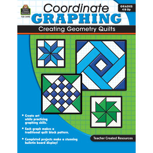 TCR2493 Coordinate Graphing: Creating Geometry Quilts Grade 4 & Up Image