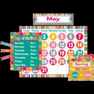 TCR2685 Tropical Punch Calendar Bulletin Board Image