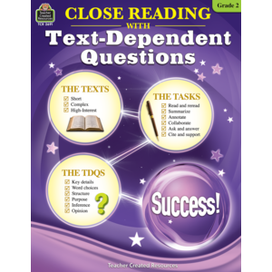 TCR2691 Close Reading Using Text-Dependent Questions Grade 2 Image