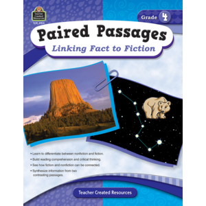 TCR2914 Paired Passages: Linking Fact to Fiction Grade 4 Image