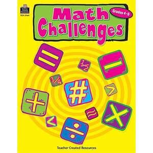 TCR2964 Math Challenges, Grades 4-6 Image