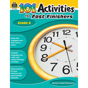 TCR2966 101 Activities For Fast Finishers Grade 6 Image