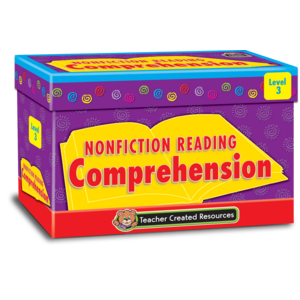 TCR3055 Nonfiction Reading Comprehension Cards Level 3 Image