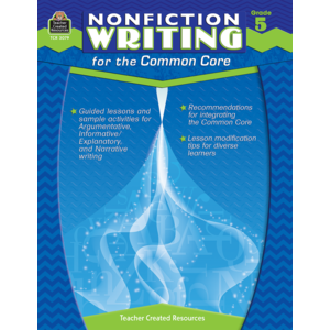 TCR3079 Nonfiction Writing for the Common Core Grade 5 Image