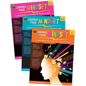 TCR32336 Change Your Mindset: Growth Mindset Activities for the Classroom Set (3) Image