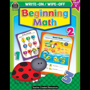 TCR3293 Beginning Math Write-On Wipe-Off Book Image