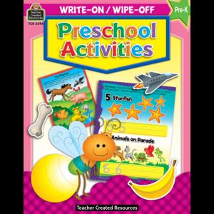 TCR3294 Preschool Activities Write-On Wipe-Off Book Image