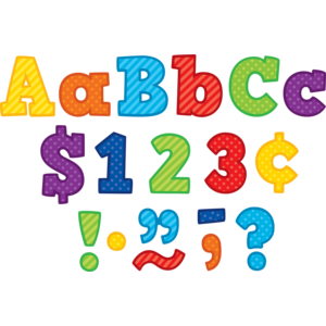 """TCR3851 Playful Patterns Bold Block 4"""" Letters Combo Pack Image"""