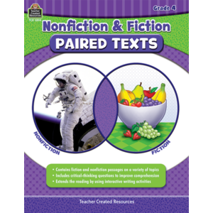 TCR3894 Nonfiction and Fiction Paired Texts Grade 4 Image