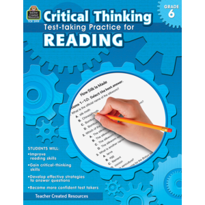 TCR3919 Critical Thinking: Test-taking Practice for Reading Grade 6 Image