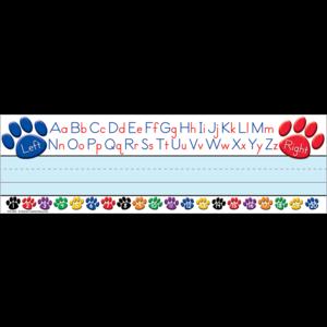 TCR4040 Paw Prints Left/Right Alphabet Flat Name Plates Image