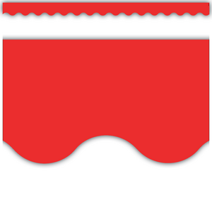 TCR4174 Red Scalloped Border Trim Image