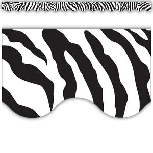 TCR4214 Zebra Scalloped Border Trim Image