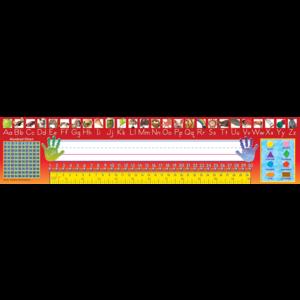 TCR4311 Traditional Printing Super Jumbo Name Plates-Red Image