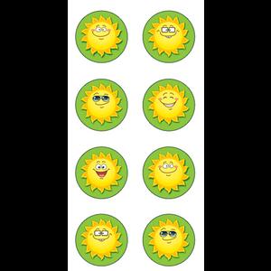 TCR5473 Happy Suns Mini Stickers Image