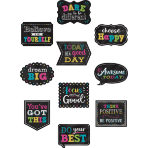 TCR5576 Chalkboard Brights Positive Sayings Accents Image