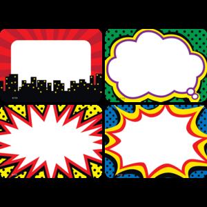 TCR5587 Superhero Name Tags/Labels - Multi-Pack Image