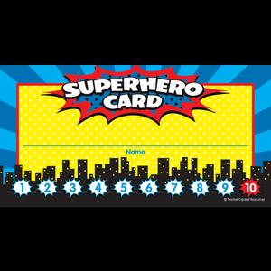 TCR5607 Superhero Punch Cards Image