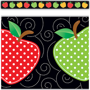 TCR5637 Dotty Apples Straight Border Trim Image