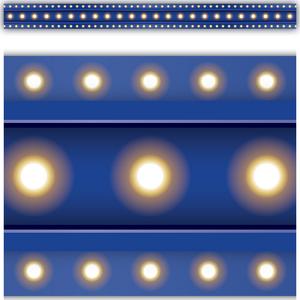TCR5868 Dark Blue Marquee Straight Border Trim Image