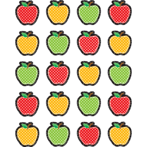 TCR5912 Dotty Apples Stickers Image