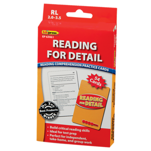 TCR63061 Reading for Detail Practice Cards Red Level Image