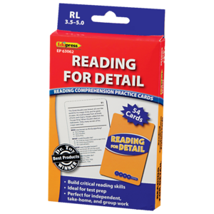 TCR63062 Reading for Detail Practice Cards Blue Level Image