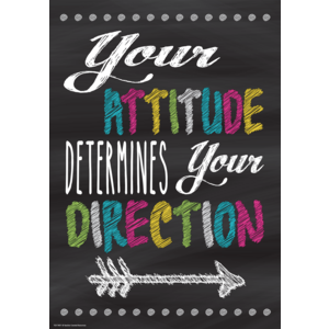 TCR7409 Your Attitude Determines Your Direction Positive Poster Image