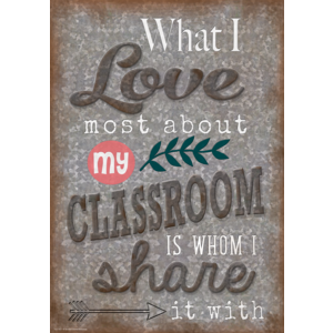 TCR7425 What I Love Most About My Classroom Positive Poster Image