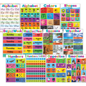 TCR7456 Colorful Early Learning Small Poster Pack Image