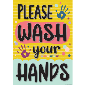 TCR7509 Please Wash Your Hands Positive Poster Image