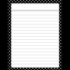 TCR7677 Black Polka Dots Lined Chart Image