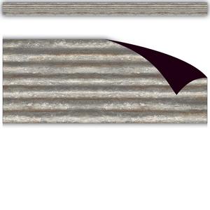 TCR77009 Corrugated Metal Magnetic Border Image