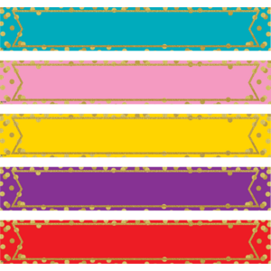 TCR77015 Large Confetti Colorful Labels Magnetic Accents Image