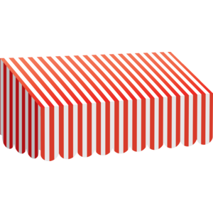TCR77165 Red & White Stripes Awning Image
