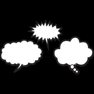 TCR77203 Black & White Speech Bubbles Magnetic Accents Image