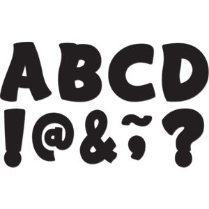 "TCR77214 Black Funtastic Font 3"" Magnetic Letters Image"