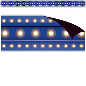 TCR77303 Dark Blue Marquee Magnetic Border Image