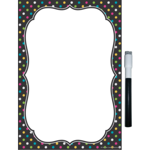 TCR77345 Clingy Thingies Chalkboard Brights Small Note Sheet Image