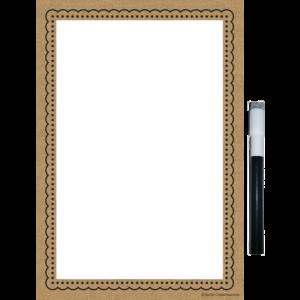 TCR77346 Clingy Thingies Burlap Small Note Sheet Image