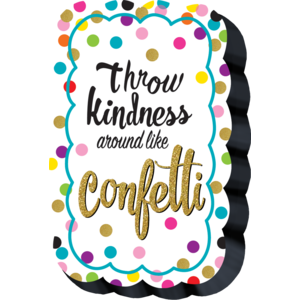 TCR77392 Confetti Magnetic Whiteboard Eraser Image