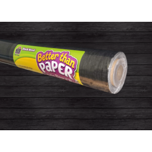 TCR77453 Black Wood Better Than Paper Bulletin Board Roll Image