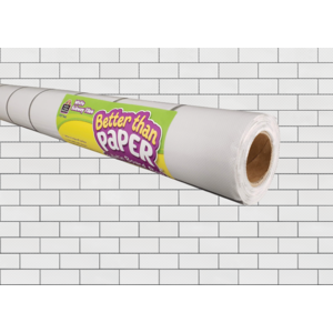 TCR77462 White Subway Tile Better Than Paper Bulletin Board Roll Image
