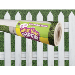 TCR77467 Fun Size White Picket Fence Better Than Paper Bulletin Board Roll Image