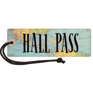 TCR77476 Travel the Map Magnetic Hall Pass Image
