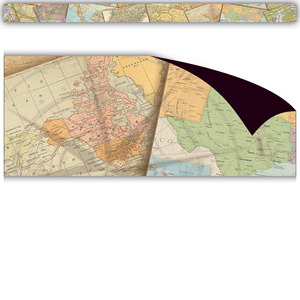TCR77486 Travel the Map Magnetic Border Image