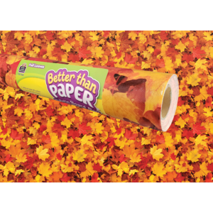 TCR77497 Fall Leaves Better Than Paper Bulletin Board Roll Image