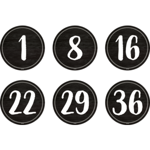 """TCR77531 Spot On Floor Markers Modern Farmhouse Numbers 1-36 - 4"""" Image"""