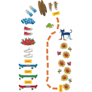 TCR77542 Pete the Cat My Groovy Shoes Sensory Path Image