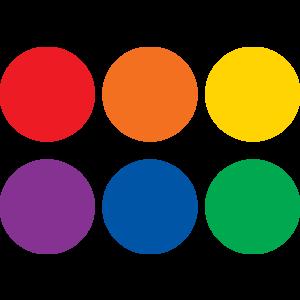 "TCR77550 Spot On Dry Erase Desktop Writing Spots Colorful Circles 4"" Image"